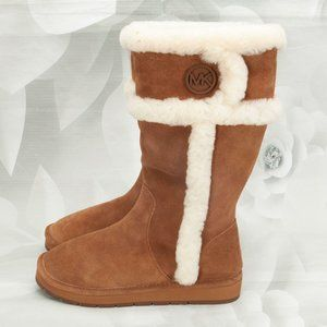 Michael Kors Winter Mid-Calf Leather Outdoor Boots